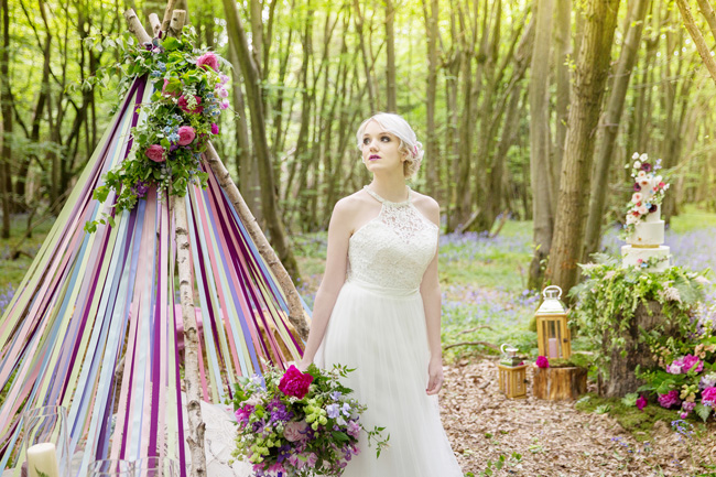 Woodland wedding inspo in Kent with Blue Daisies Florist and Your Beautiful Day. Image credit Helen England Photography (17)