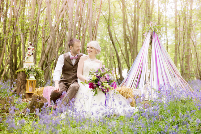 Woodland wedding inspo in Kent with Blue Daisies Florist and Your Beautiful Day. Image credit Helen England Photography (14)