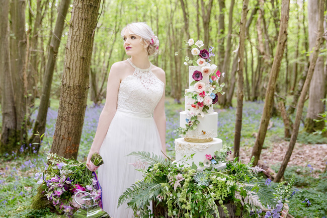 Woodland wedding inspo in Kent with Blue Daisies Florist and Your Beautiful Day. Image credit Helen England Photography (9)