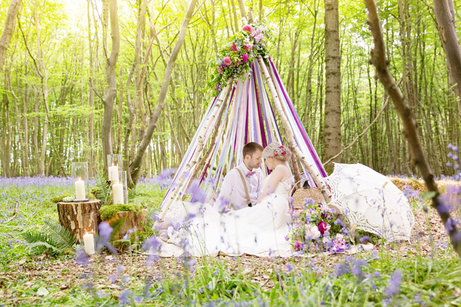 Woodland wedding inspo in Kent with Blue Daisies Florist and Your Beautiful Day. Image credit Helen England Photography (5)