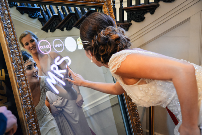Black tie glamour and plenty of sparkle for a Rockbeare Manor wedding. Image credit Memories & Milestones (25)