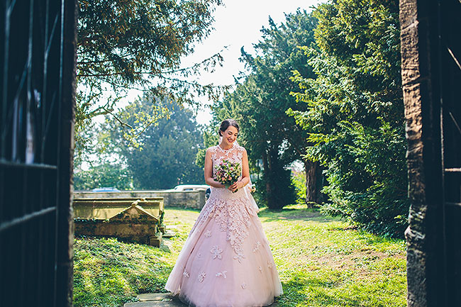 Crafty wedding styling and a beautiful blush pink dress at Chequers Inn, with The Crawleys (10)