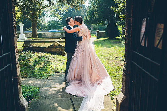 Crafty wedding styling and a beautiful blush pink dress at Chequers Inn, with The Crawleys (16)