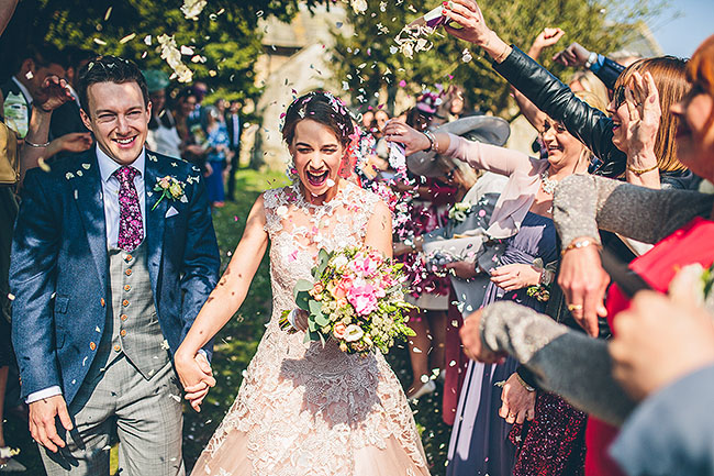 Crafty wedding styling and a beautiful blush pink dress at Chequers Inn, with The Crawleys (17)