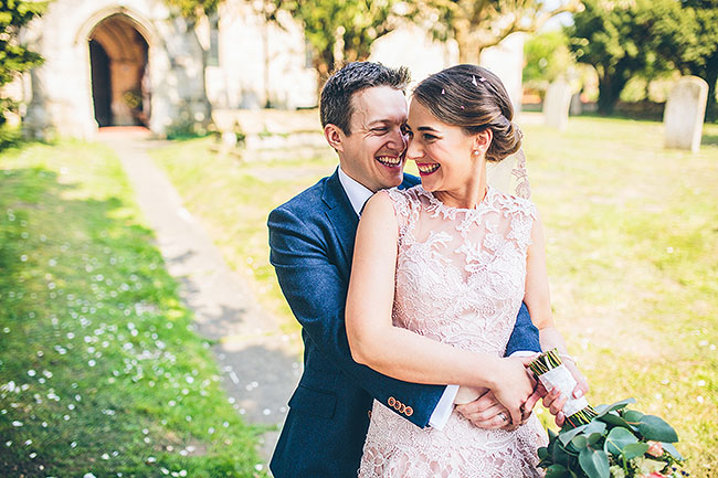 Crafty wedding styling and a beautiful blush pink dress at Chequers Inn, with The Crawleys (18)