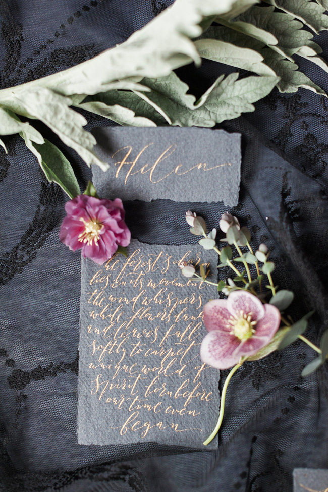 Calligraphy wedding invitations from UK Calligrapher By Moon and Tide (6)