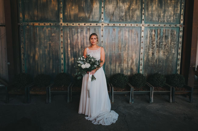 Greenery and gorgeous urban chic styling at Manchester Victoria Warehouse with Kate McCarthy Photography (16)