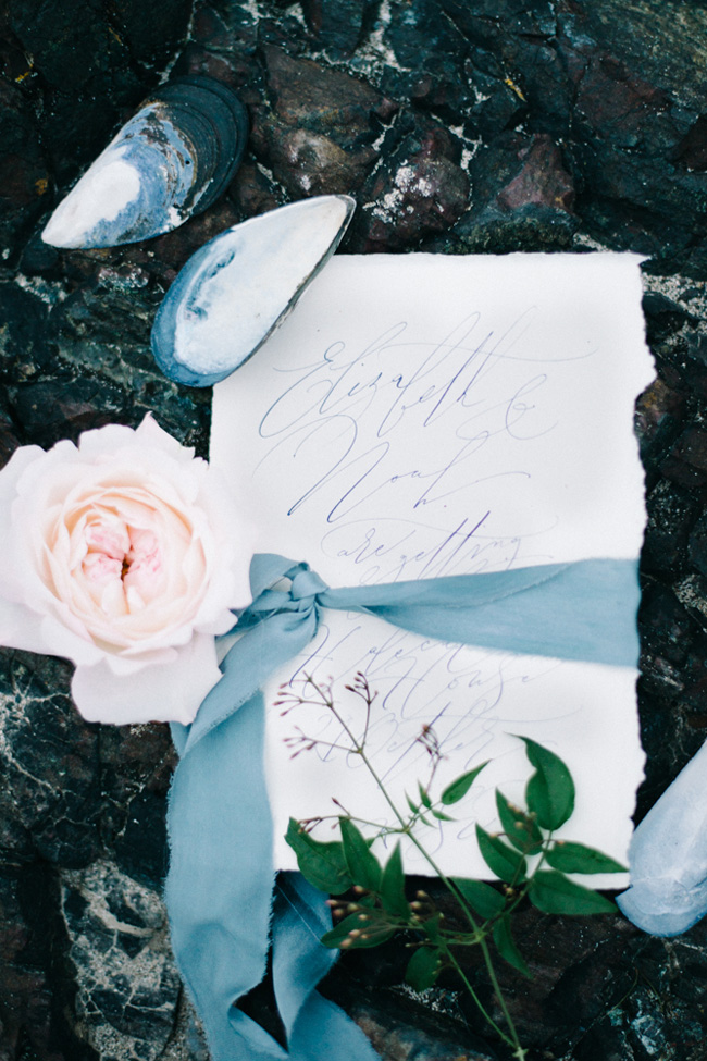 Calligraphy wedding invitations from UK Calligrapher By Moon and Tide (4)