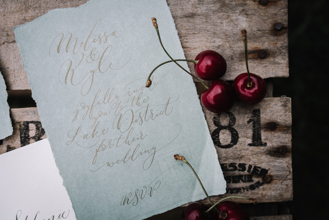 Calligraphy wedding invitations from UK Calligrapher By Moon and Tide (3)