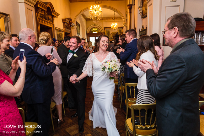 Siobhan & Ross's pretty spring wedding at Orchardleigh House, Somerset, with images by Love In Focus