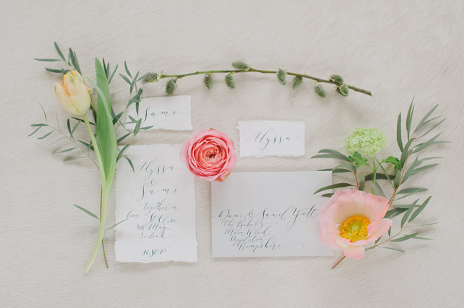 Calligraphy wedding invitations from UK Calligrapher By Moon and Tide (2)