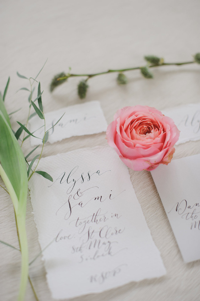 Calligraphy wedding invitations from UK Calligrapher By Moon and Tide (1)