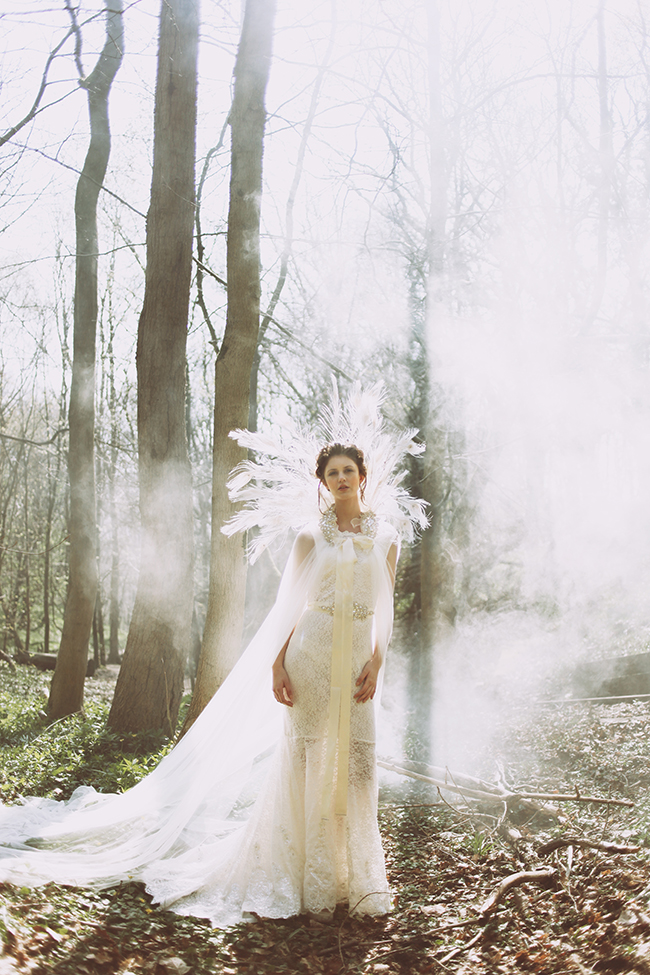 Woodland fairytale wedding with butterflies on the English Wedding Blog. Photo credit: Nina Pang (1)