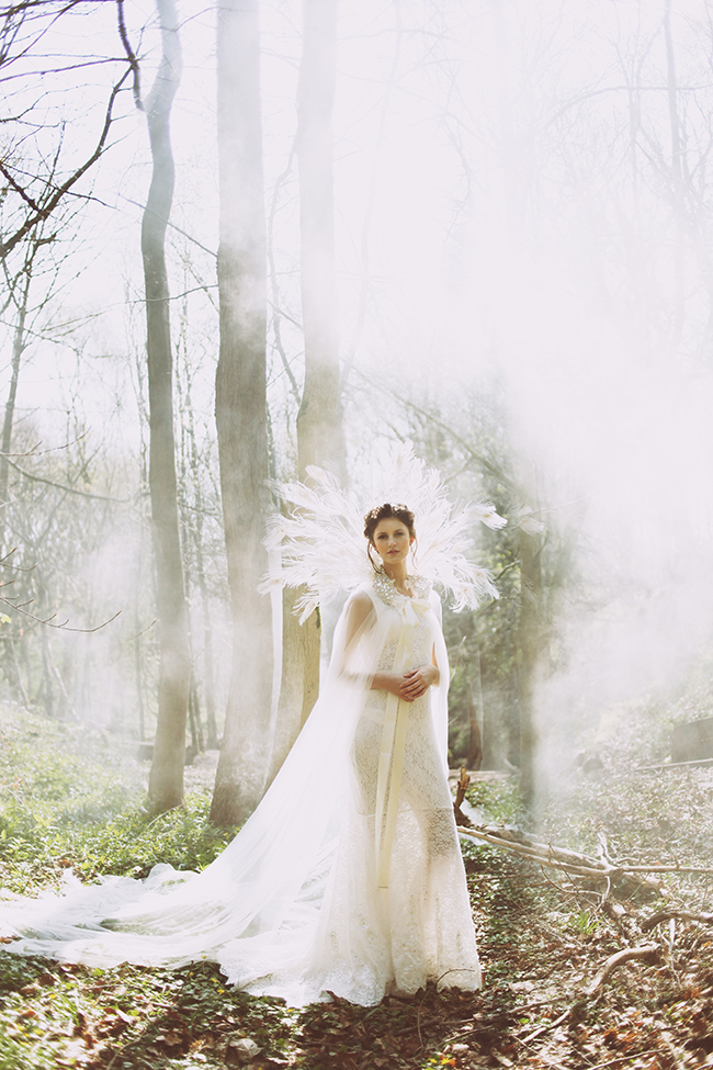 Woodland fairytale wedding with butterflies on the English Wedding Blog. Photo credit: Nina Pang (2)