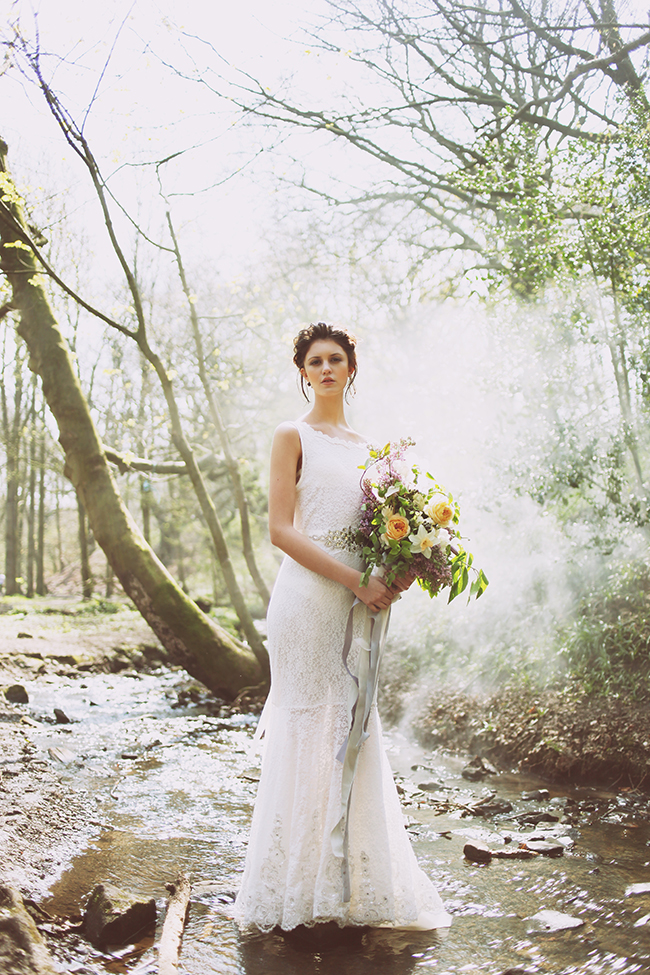 Woodland fairytale wedding with butterflies on the English Wedding Blog. Photo credit: Nina Pang (8)