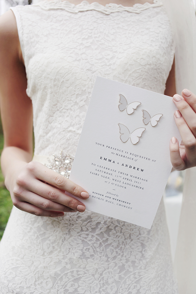 Woodland fairytale wedding with butterflies on the English Wedding Blog. Photo credit: Nina Pang (27)