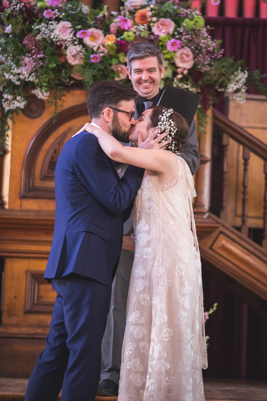 Eclectic, individual and timeless wedding styling at Hackney Round Chapel with images by Sam Taylor Photography (9)