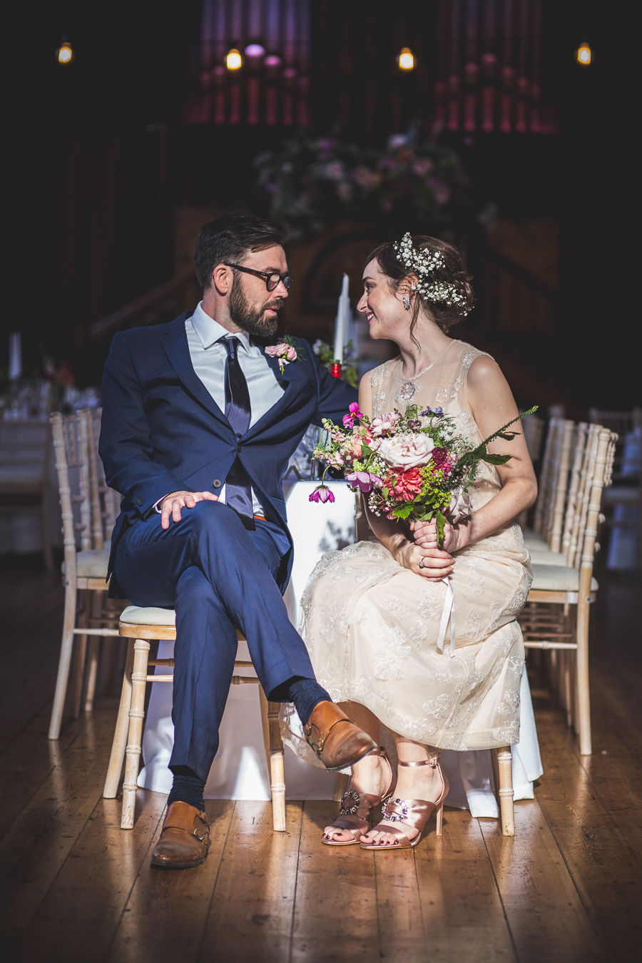 Eclectic, individual and timeless wedding styling at Hackney Round Chapel with images by Sam Taylor Photography (22)