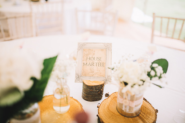 Pretty signage and a subtle Game of Thrones theme for Rosie and Allan's Canterbury wedding. Lucie Watson Photography (8)