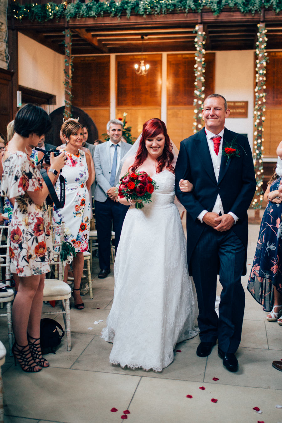 A stunning wedding in Hastings with a gorgeous redhead bride, images by Nikki van der Molen (22)