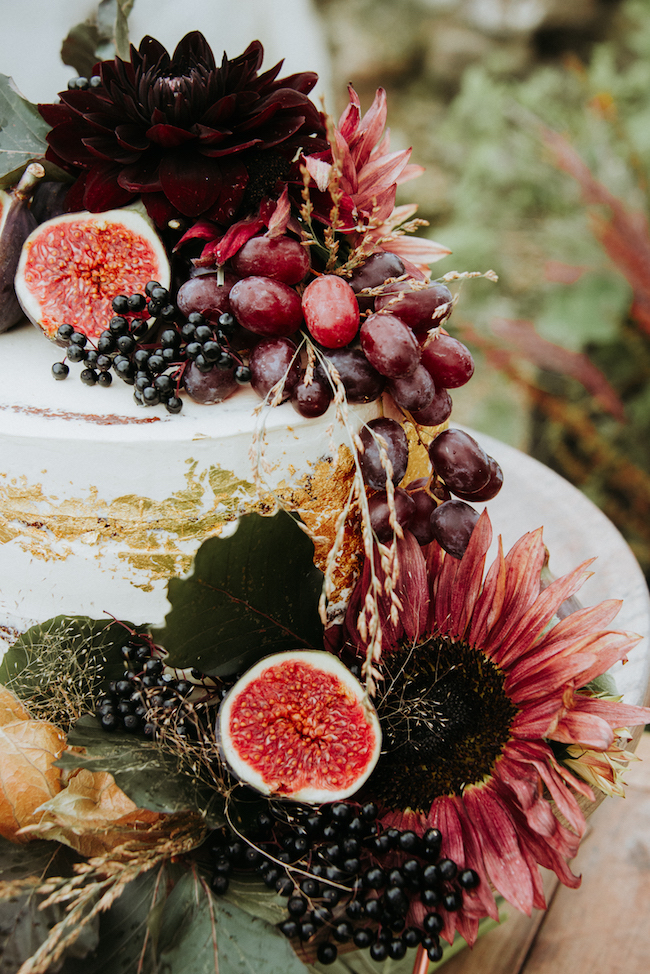 Organic and elegant autumnal wedding styling at River Cottage. Image credit Katy Jones Photography (16)