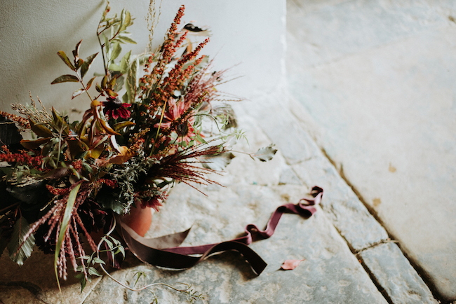 Organic and elegant autumnal wedding styling at River Cottage. Image credit Katy Jones Photography (17)