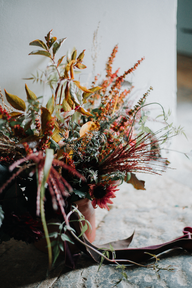 Organic and elegant autumnal wedding styling at River Cottage. Image credit Katy Jones Photography (18)