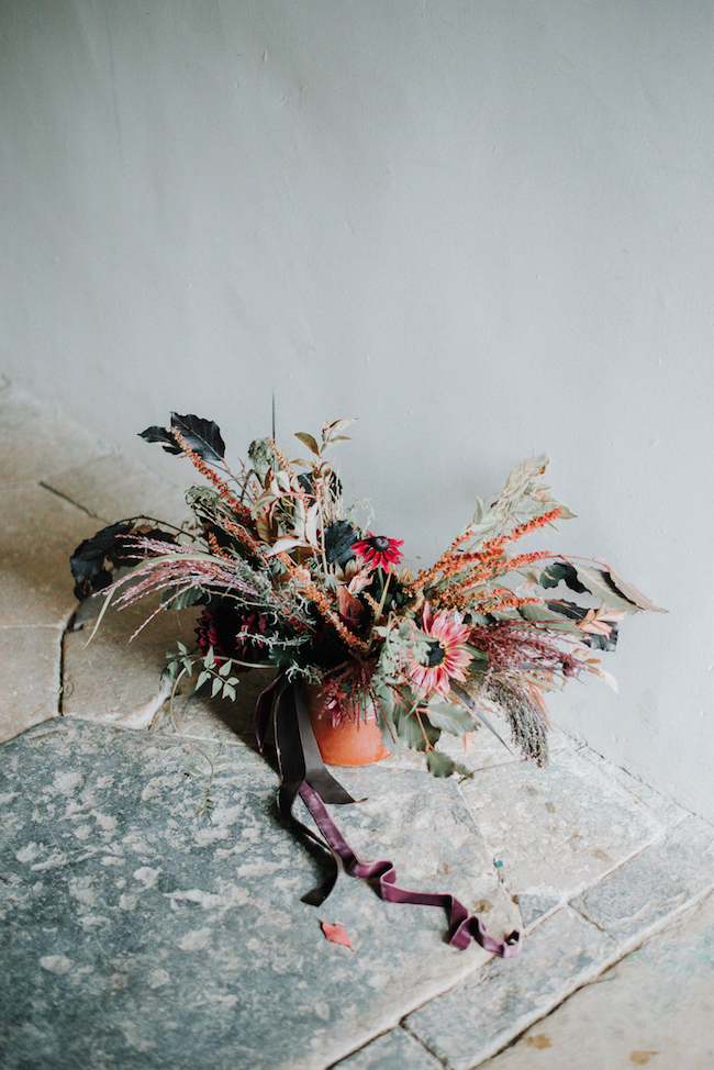 Organic and elegant autumnal wedding styling at River Cottage. Image credit Katy Jones Photography (19)