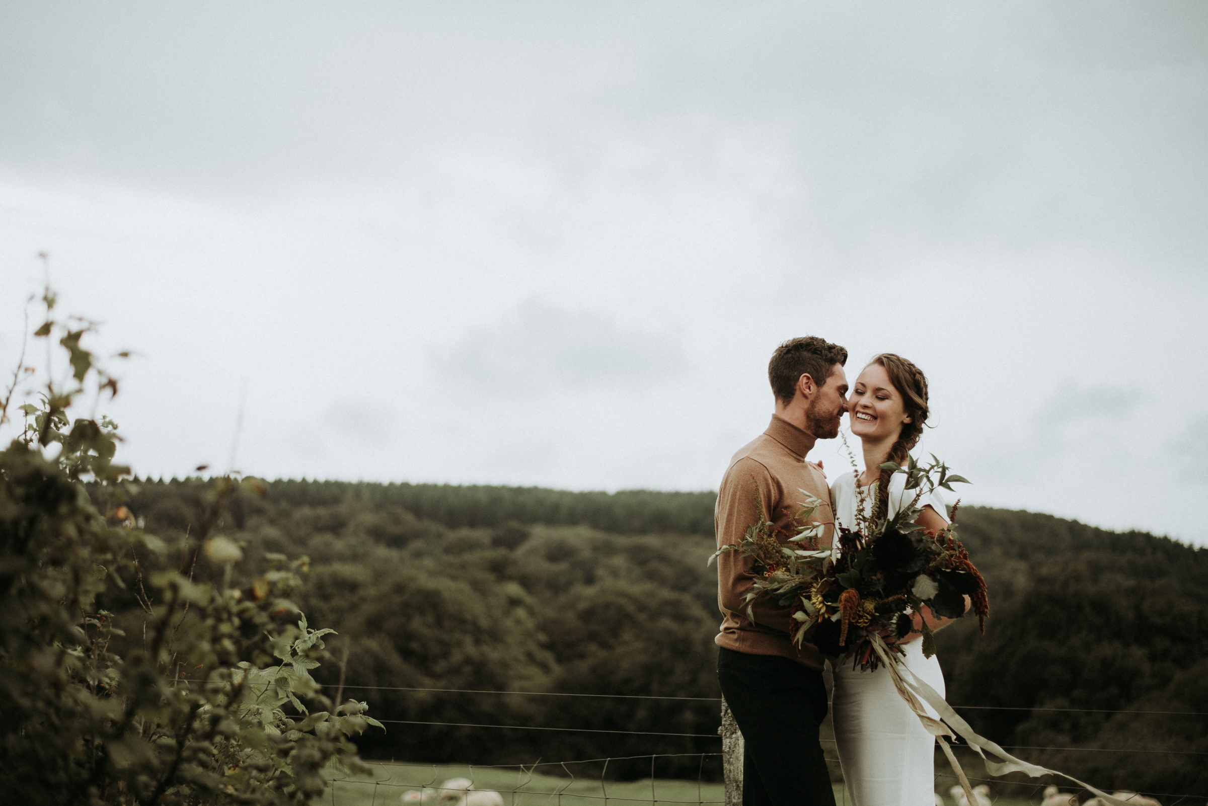 Organic and elegant autumnal wedding styling at River Cottage. Image credit Katy Jones Photography (21)