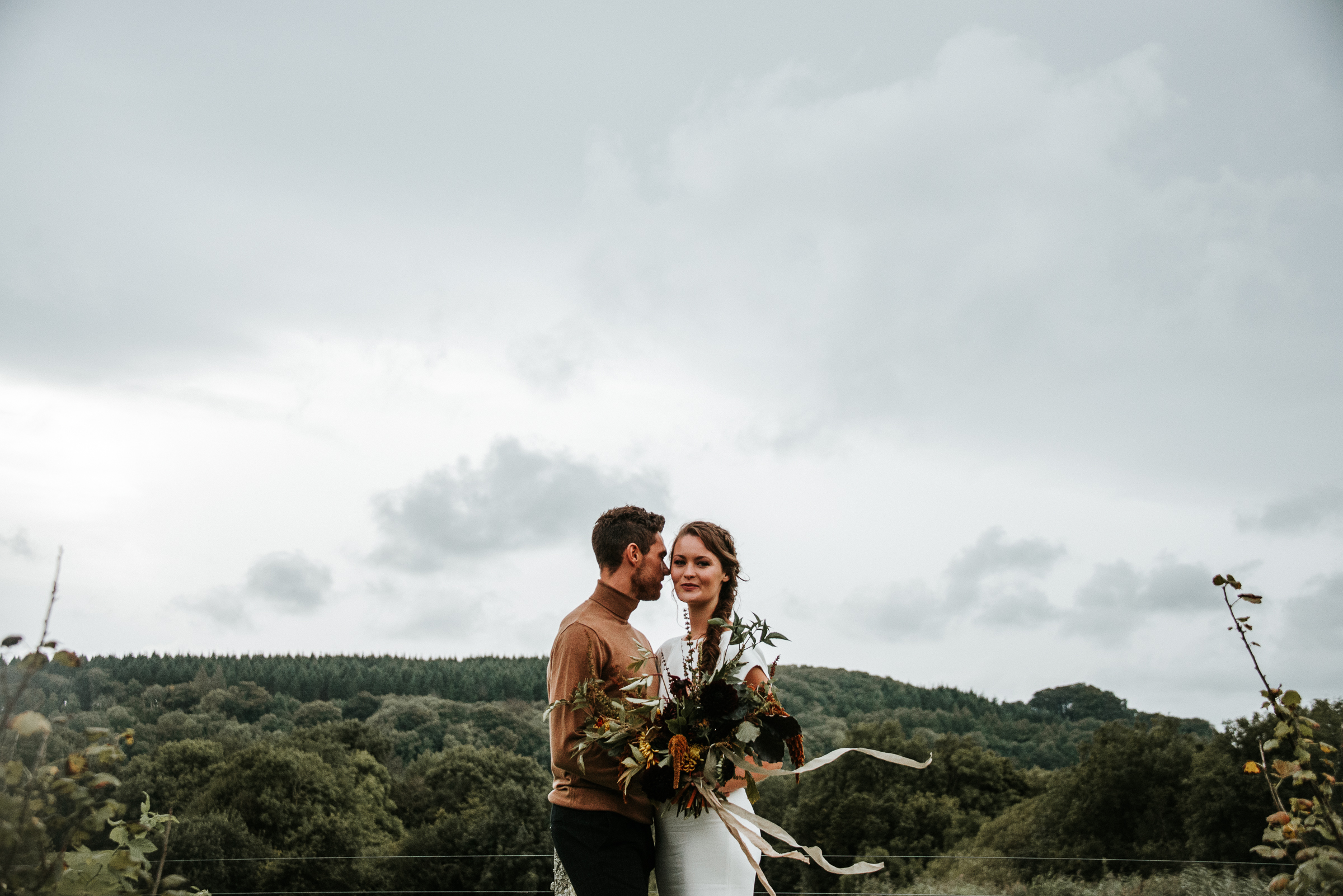 Organic and elegant autumnal wedding styling at River Cottage. Image credit Katy Jones Photography (22)