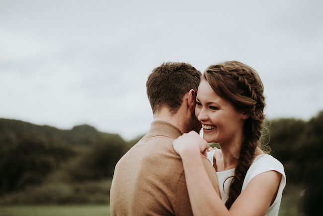 Organic and elegant autumnal wedding styling at River Cottage. Image credit Katy Jones Photography (23)