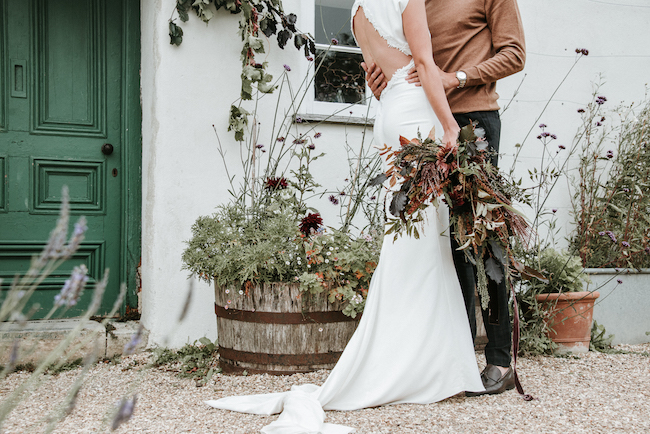 Organic and elegant autumnal wedding styling at River Cottage. Image credit Katy Jones Photography (2)