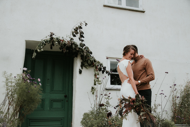 Organic and elegant autumnal wedding styling at River Cottage. Image credit Katy Jones Photography (3)