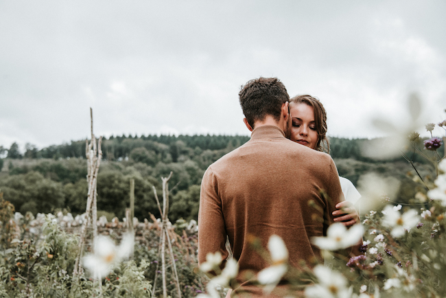 Organic and elegant autumnal wedding styling at River Cottage. Image credit Katy Jones Photography (4)
