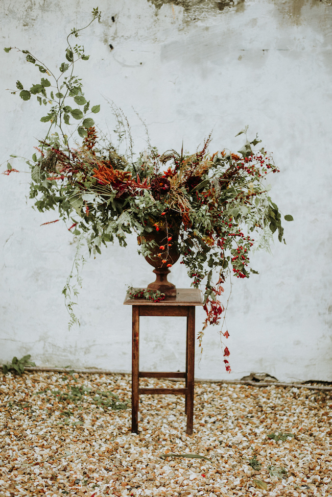 Organic and elegant autumnal wedding styling at River Cottage. Image credit Katy Jones Photography (28)