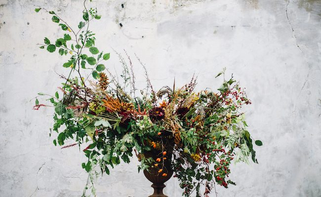 Organic and elegant autumnal wedding styling at River Cottage. Image credit Katy Jones Photography (29)