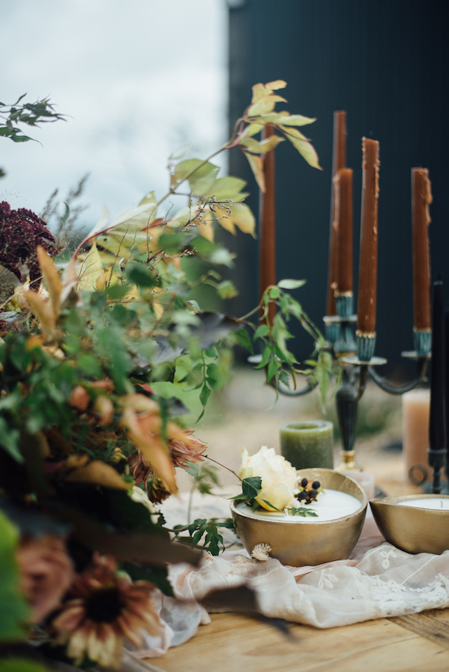 Organic and elegant autumnal wedding styling at River Cottage. Image credit Katy Jones Photography (1)