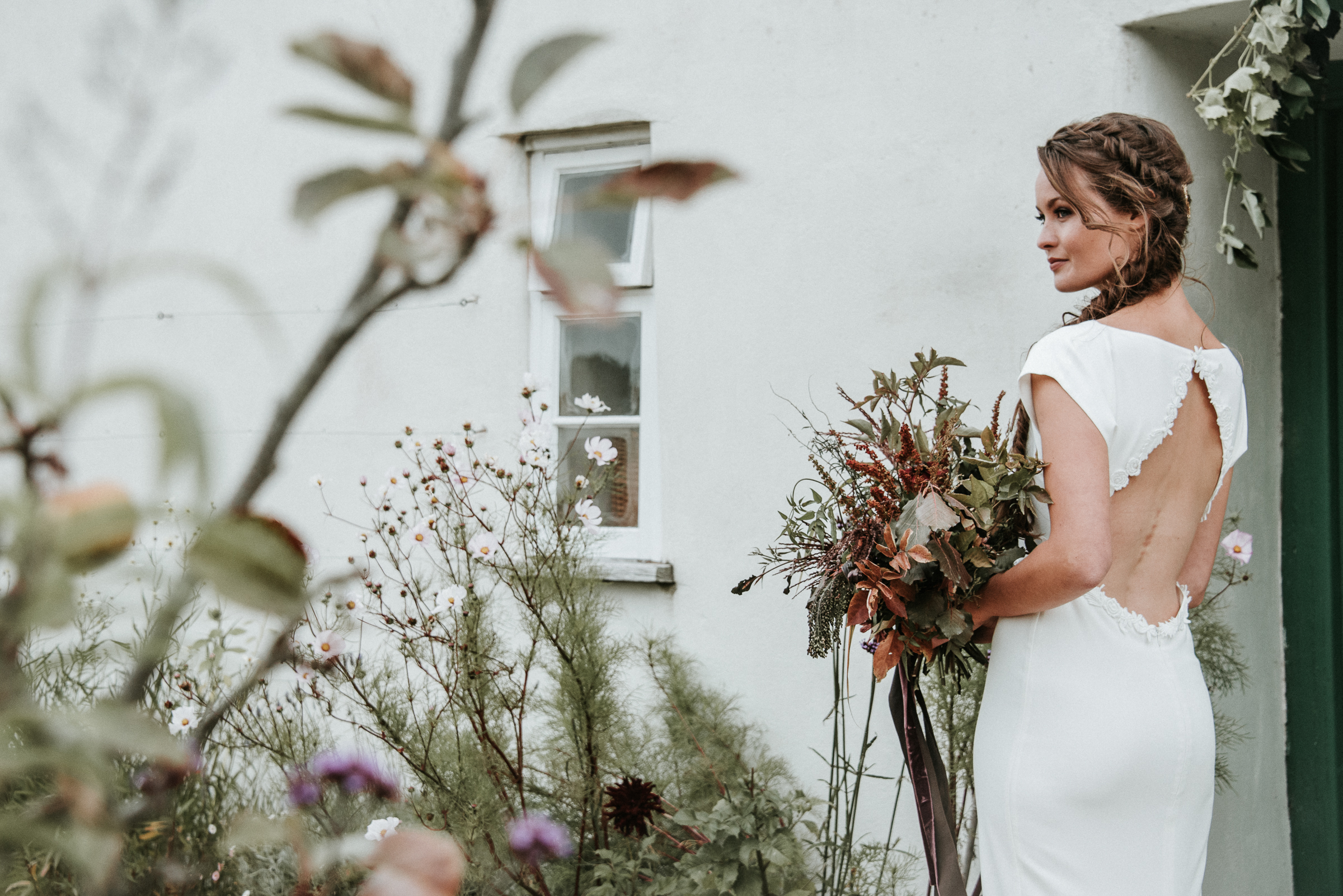 Organic and elegant autumnal wedding styling at River Cottage. Image credit Katy Jones Photography (8)
