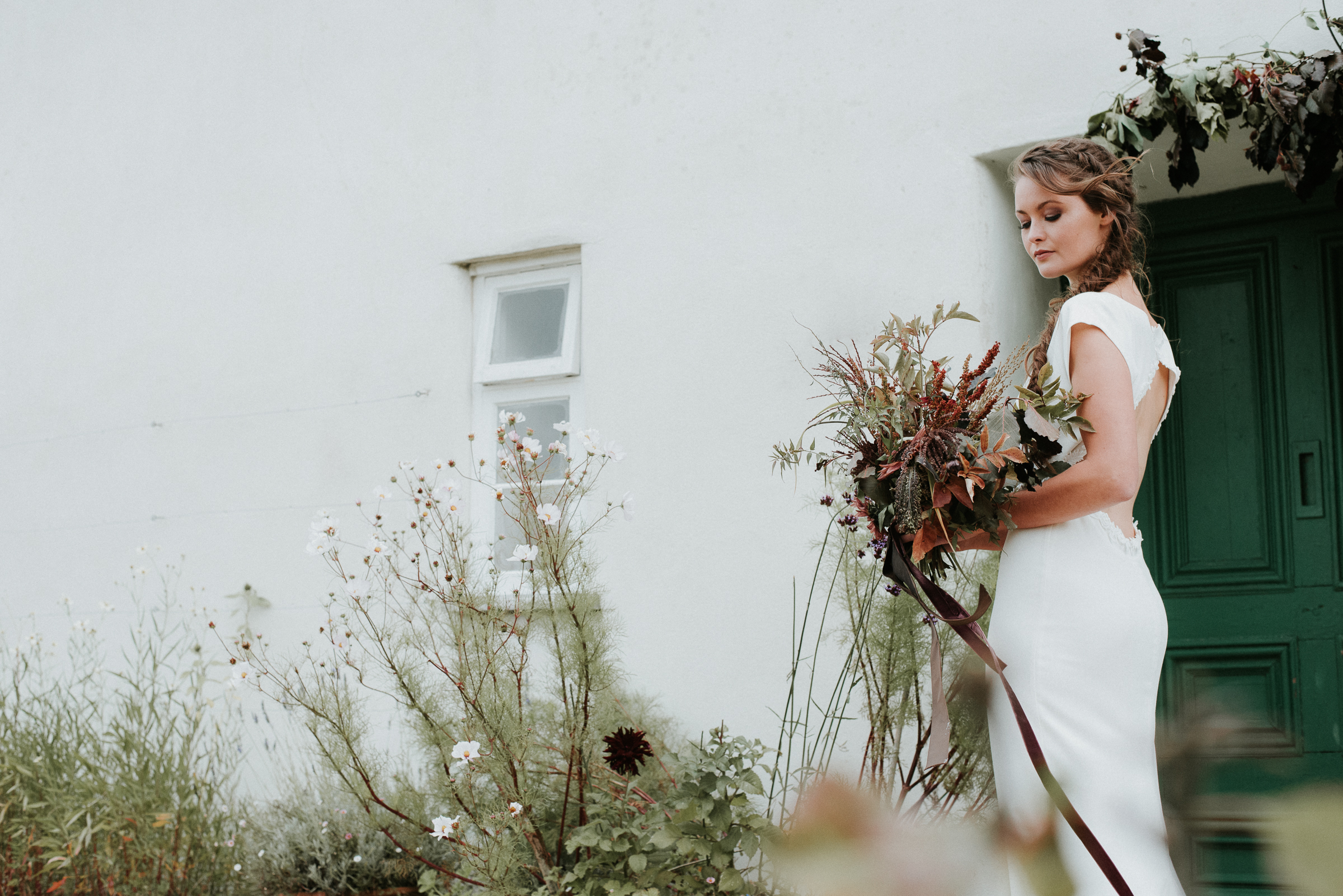 Organic and elegant autumnal wedding styling at River Cottage. Image credit Katy Jones Photography (9)