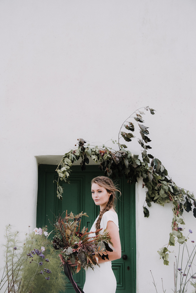 Organic and elegant autumnal wedding styling at River Cottage. Image credit Katy Jones Photography (10)