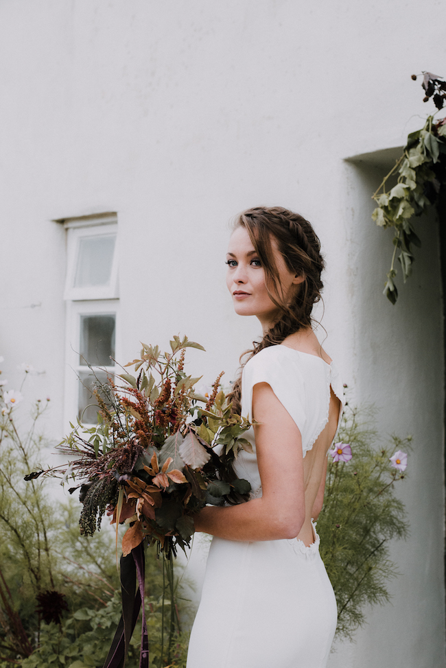 Organic and elegant autumnal wedding styling at River Cottage. Image credit Katy Jones Photography (11)