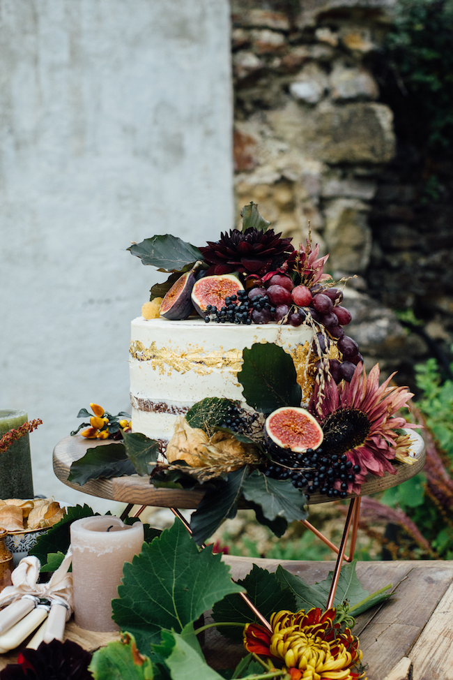 Organic and elegant autumnal wedding styling at River Cottage. Image credit Katy Jones Photography (12)