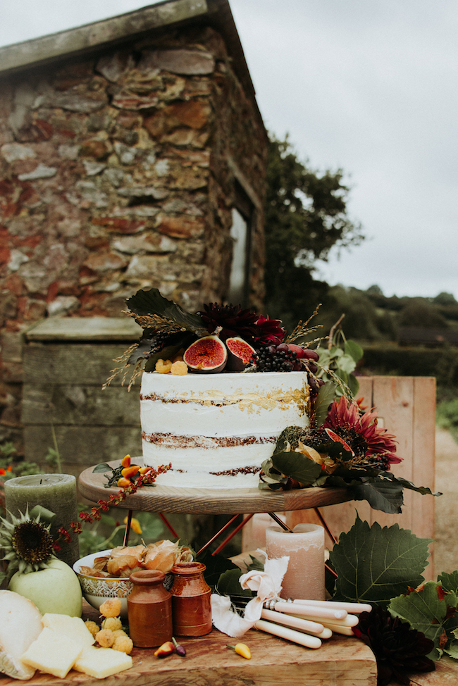 Organic and elegant autumnal wedding styling at River Cottage. Image credit Katy Jones Photography (13)