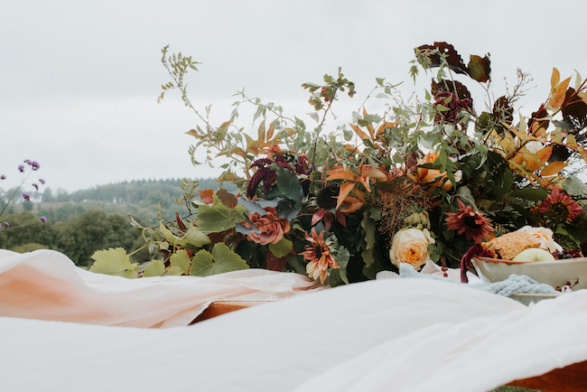 Organic and elegant autumnal wedding styling at River Cottage. Image credit Katy Jones Photography (15)
