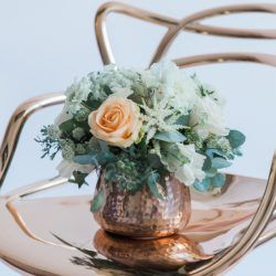 Copper and geometric styling ideas – wedding editorial with Amanda Karen Photography