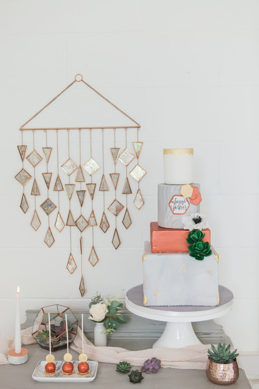 Copper metallic and succulent wedding style ideas, images by Amanda Karen Photography (28)