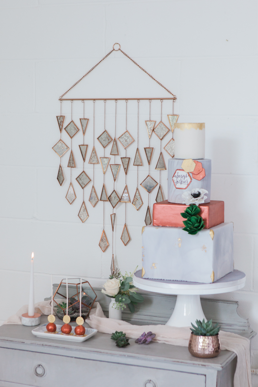 Copper metallic and succulent wedding style ideas, images by Amanda Karen Photography (22)