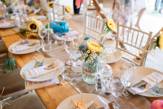 Sunflowers and tipi wedding style at the Henry Moore Foundation Hertfordshire with Becky Harley Photography (23)