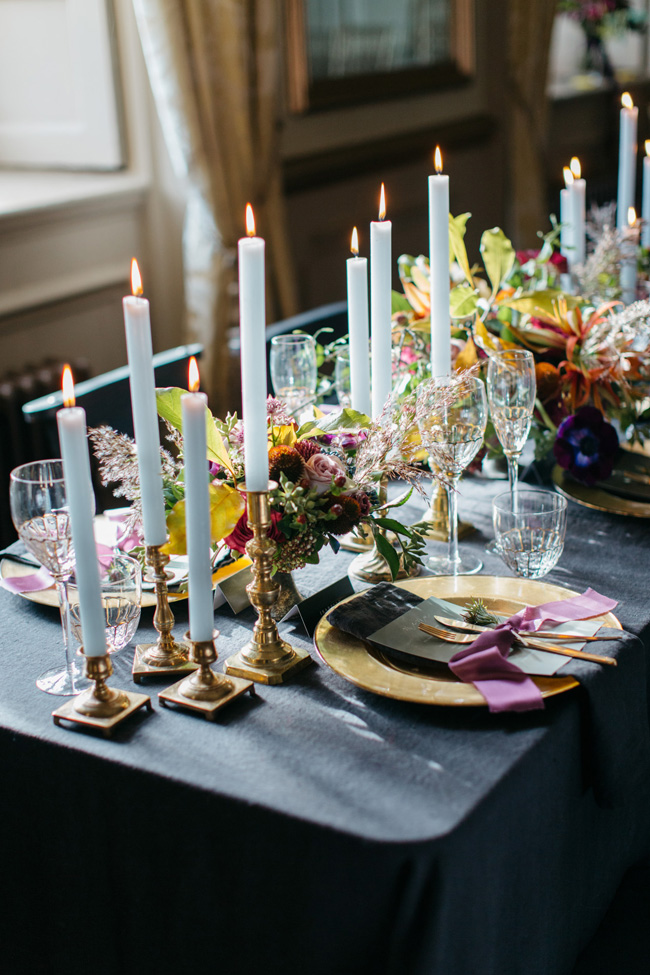 Dark wedding styling ideas for 2018 weddings, with Emma Barrow Photography (13)