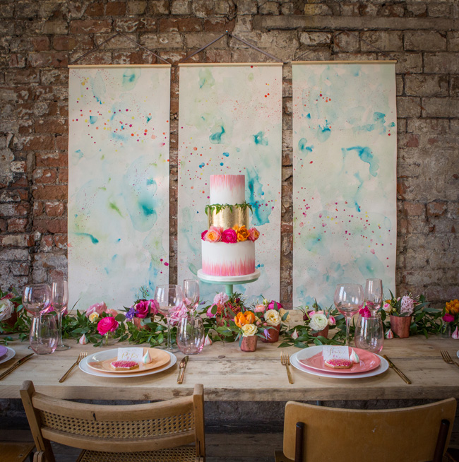 Watercolor wedding style ideas with the Little Wedding Helper, image credit Evoke Photography (21)